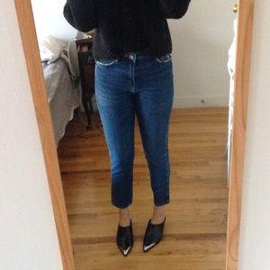 ZARA high waist stretch skinny jeans Mom 2 4